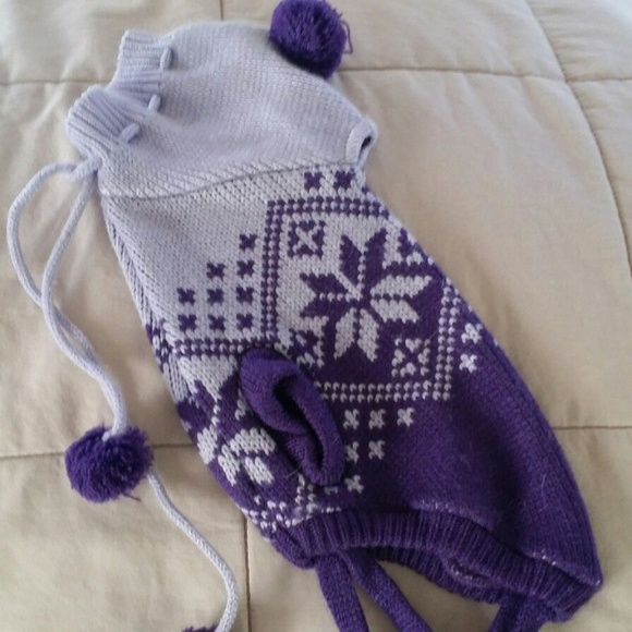 DoggieDuds Other - Doggieduds Dog Purple Lavender Hooded Knit Sweater